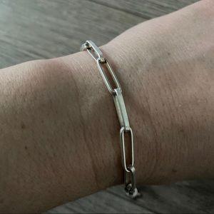 Silver link bracelet by Banana Republic